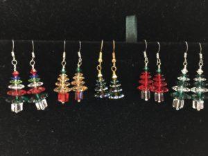 12pm Swarovski Christmas Earrings @ Sugarbeads | Ridgefield | Connecticut | United States
